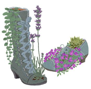 editorial illustration gardening anna laura jacobi. Black Bedroom Furniture Sets. Home Design Ideas